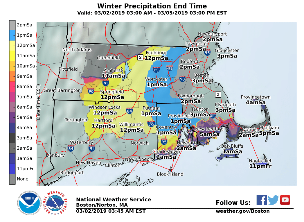 These Maps Tell Us What To Expect From This Weekends Storms The - Boston-on-a-us-map