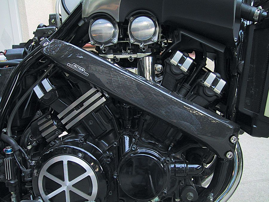 Suspension and Chassis Upgrades to the V-Max Project Bike