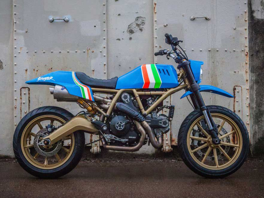 36858f65d13a8 Custom Scrambler Ducati By Tattoo Artist Grime To Be Auctioned In ...