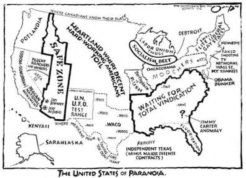 Editorial Cartoon States Of Paranoia
