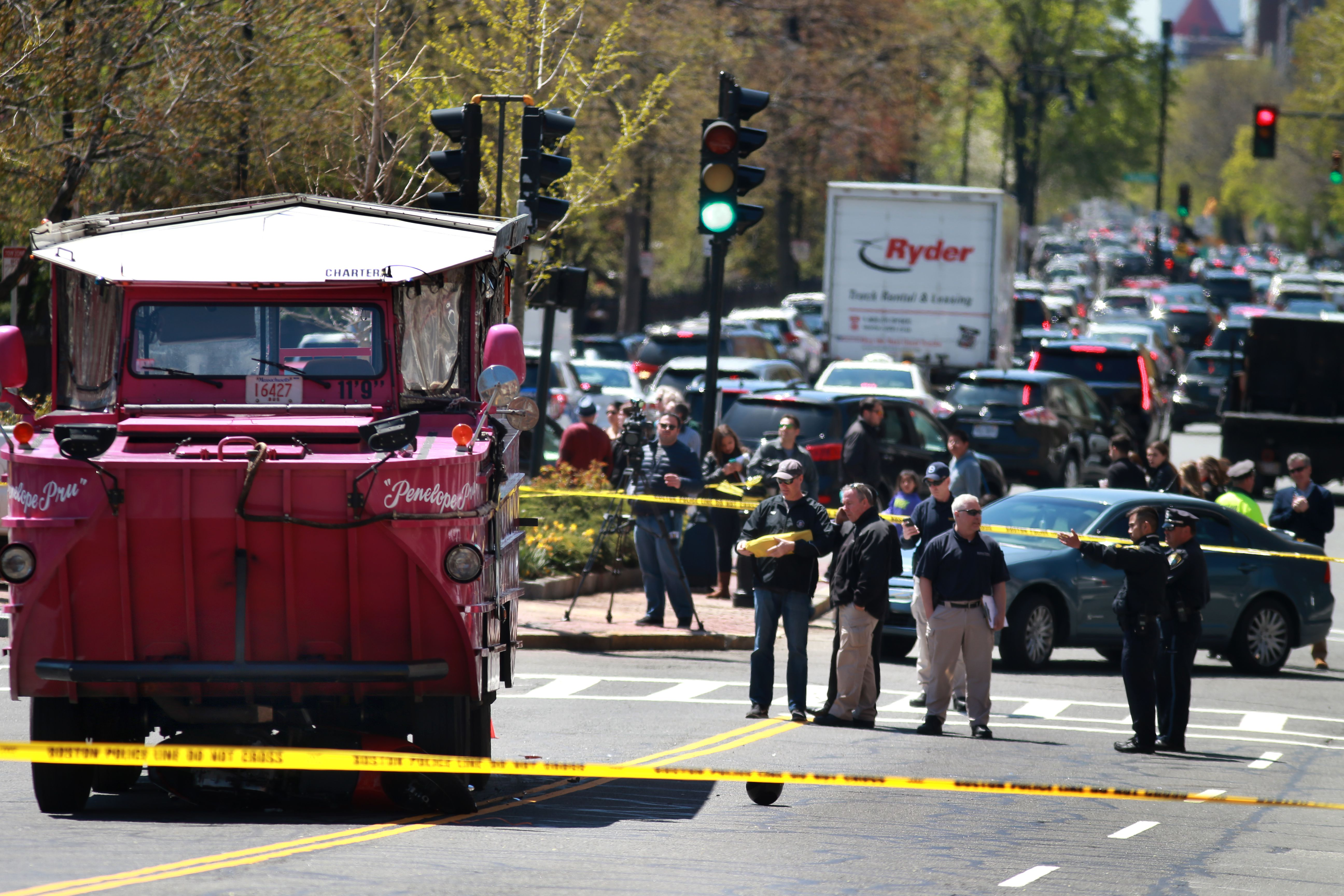 Woman driving scooter dies after being struck by duck boat - The