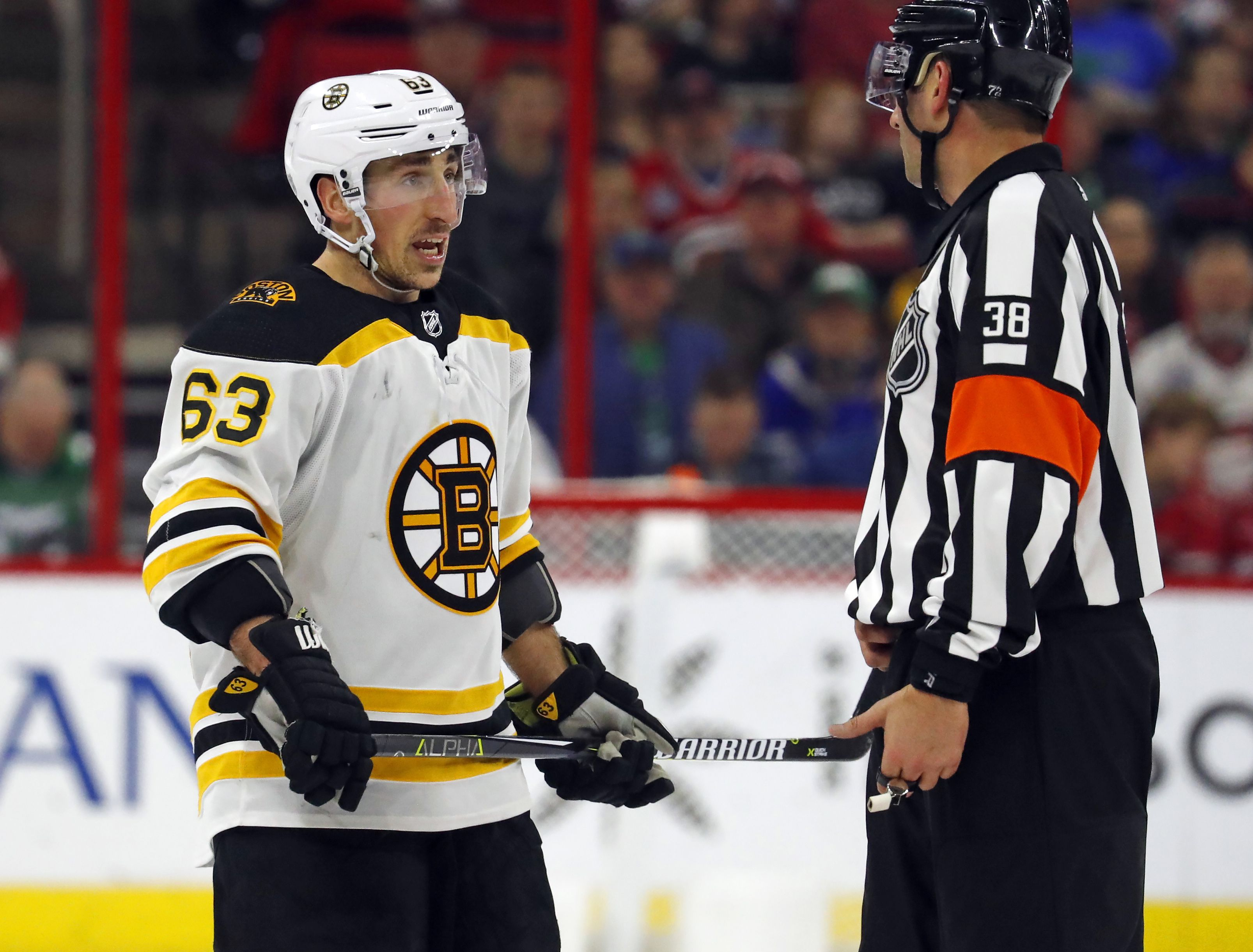 competitive price b7950 6f4a3 It looks as if Brad Marchand is in, Charlie McAvoy is out ...