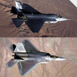 F-35 Joint Strike Fighter and the F-22 Raptor | Popular Science
