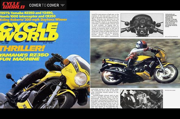 CW COVER to COVER: Yamaha RZ350 Road Test- July 1984 Issue