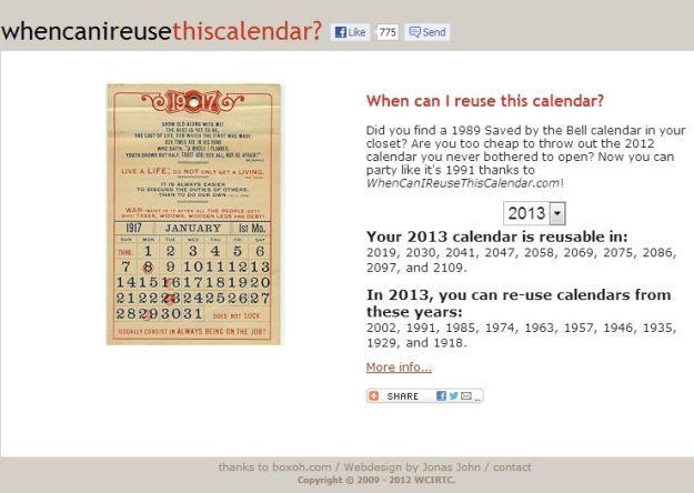 Calendario Del Ano 1957.Aplicacion Te Dice Cuando Puedes Reutilizar Tus Viejos