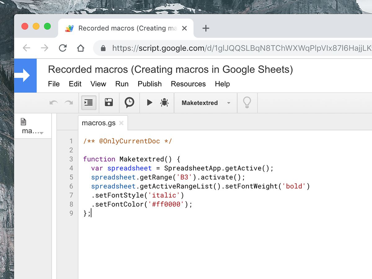 If you use Google Docs or Sheets, scripts and macros will