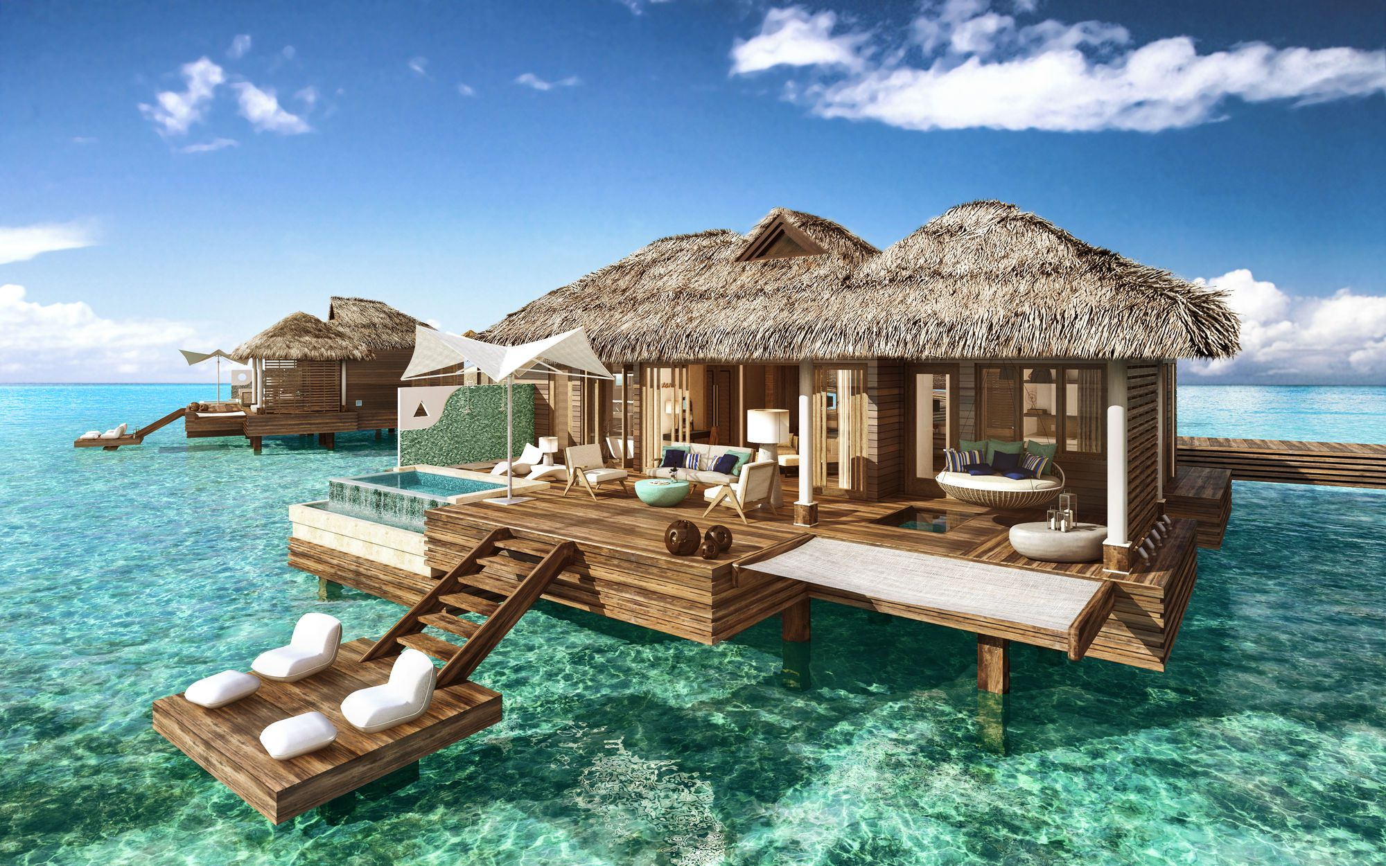 Overwater Bungalows in St. Lucia   Islands