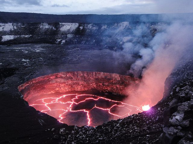 if kilauea's lava lake falls below the water table, the results could be  explosive | popular science
