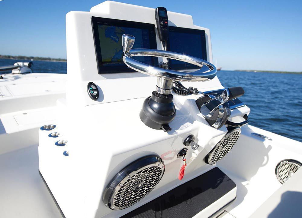Center Console Bay Boats that Float Shallow | Sport Fishing Magazine