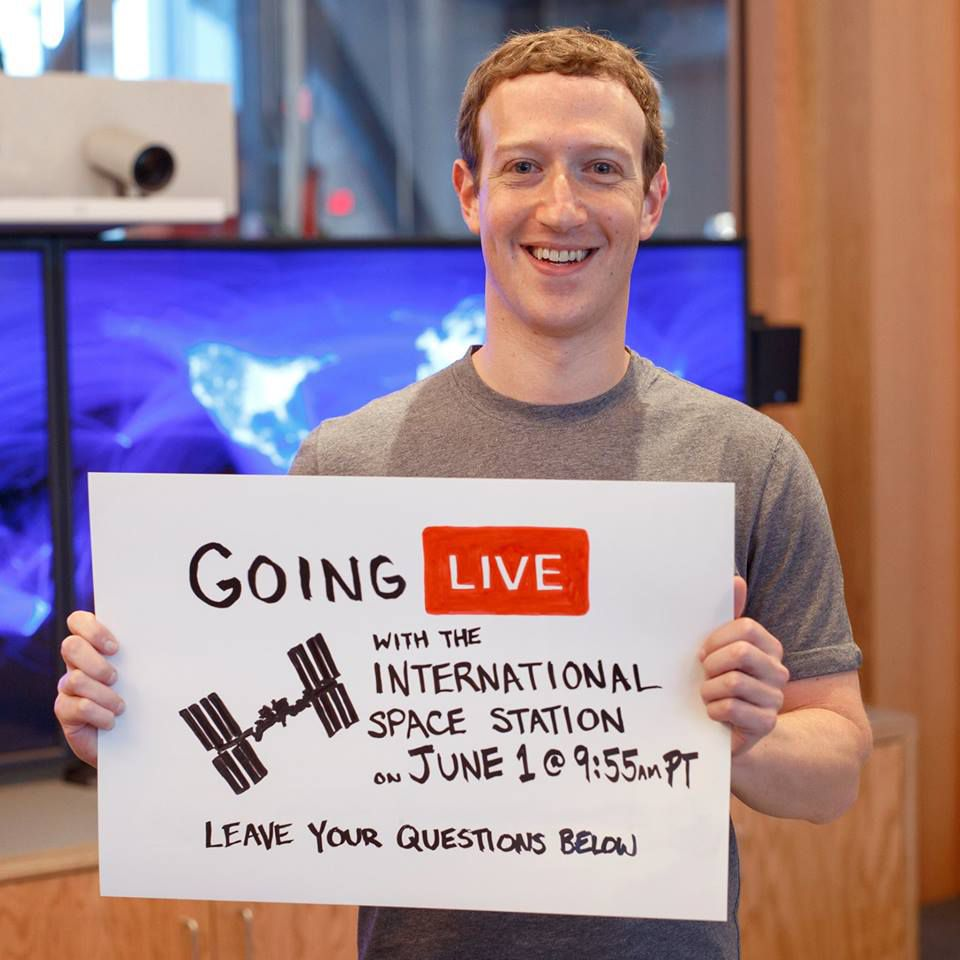 Watch Mark Zuckerberg Interview Astronauts On The Space Station