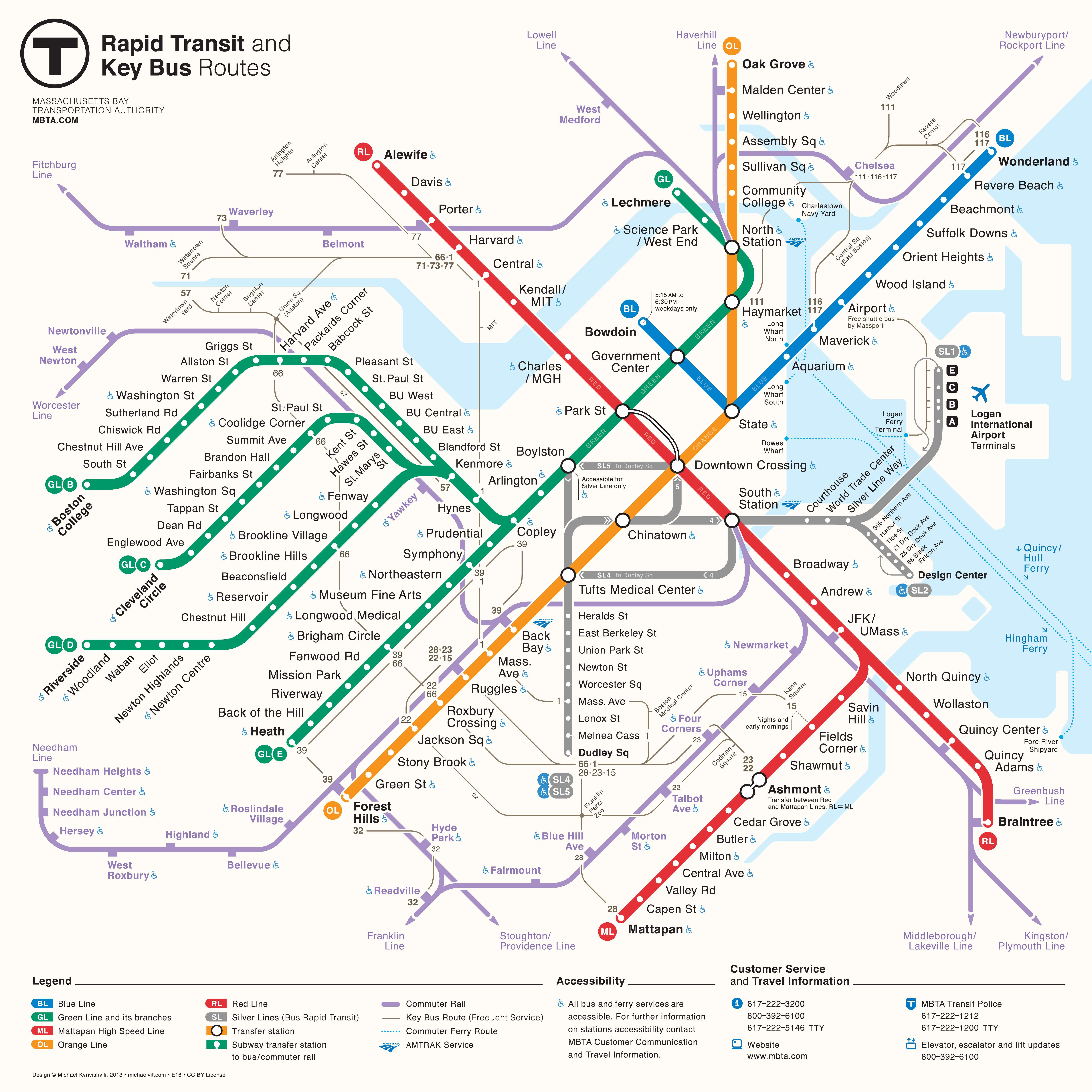 Subway Map Stops Christopher St.Mbta Gets A New Map The Boston Globe