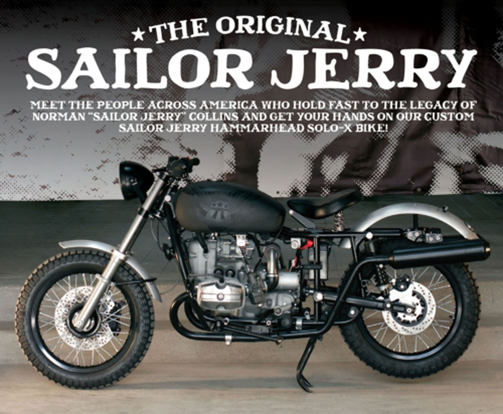 Sailor Jerry Announces Hammarhead Solo X Bike Competition Motorcycle Cruiser