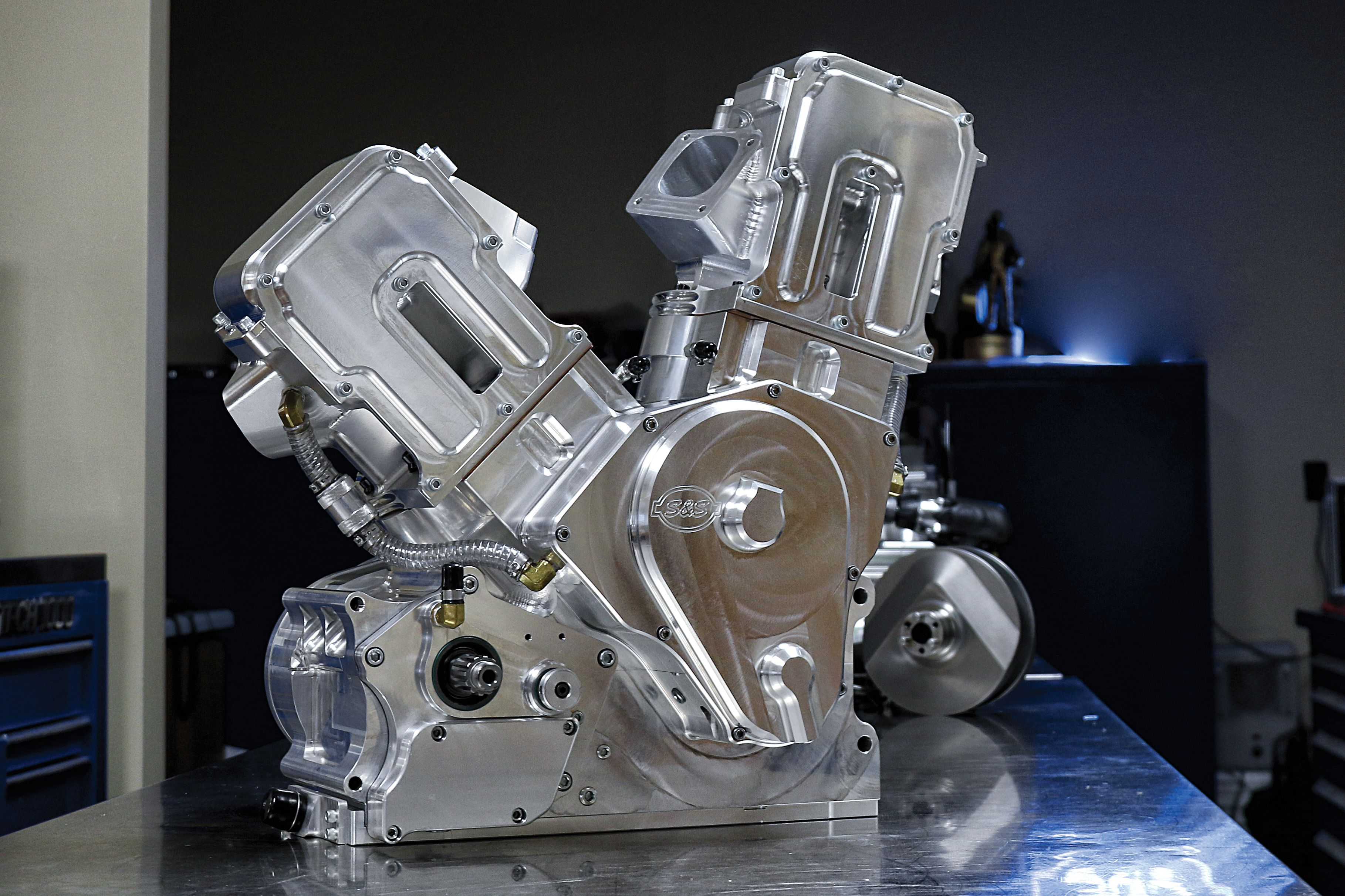 Inside the S&S Cycle Polaris Pro Stock Motorcycle Drag