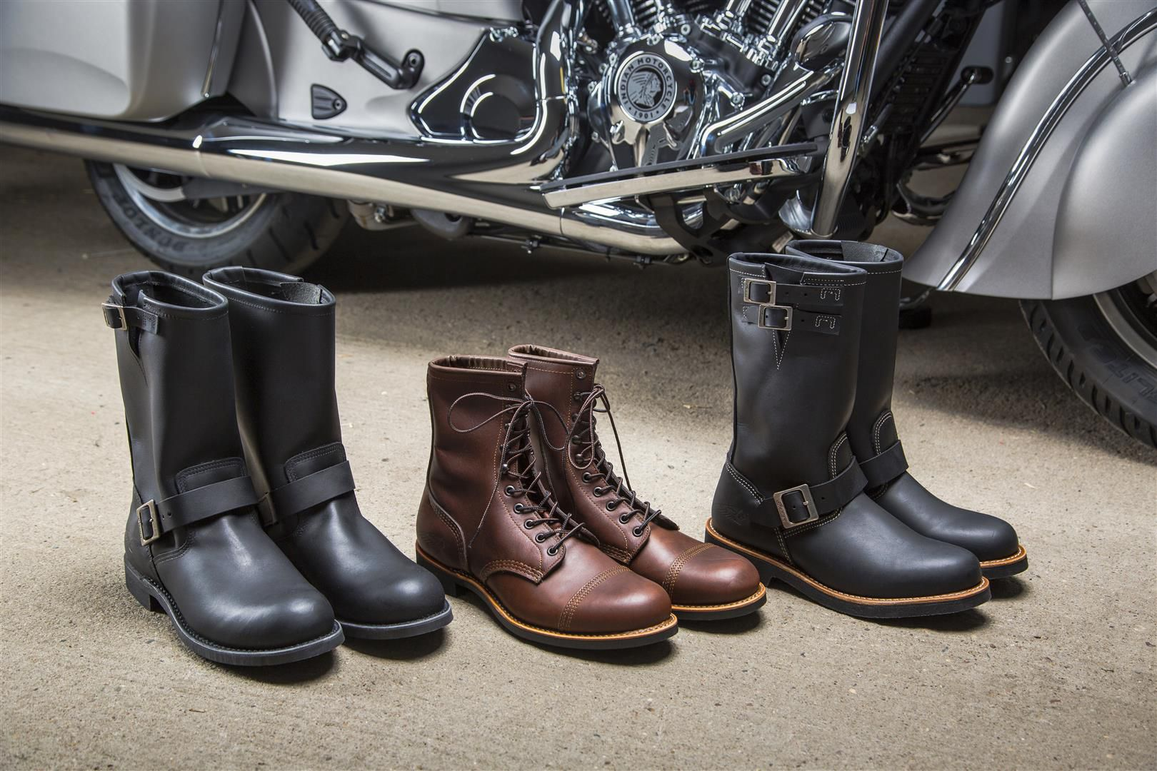 5107d8a099a Red Wing Motorcycle Boots by Indian   Cycle World