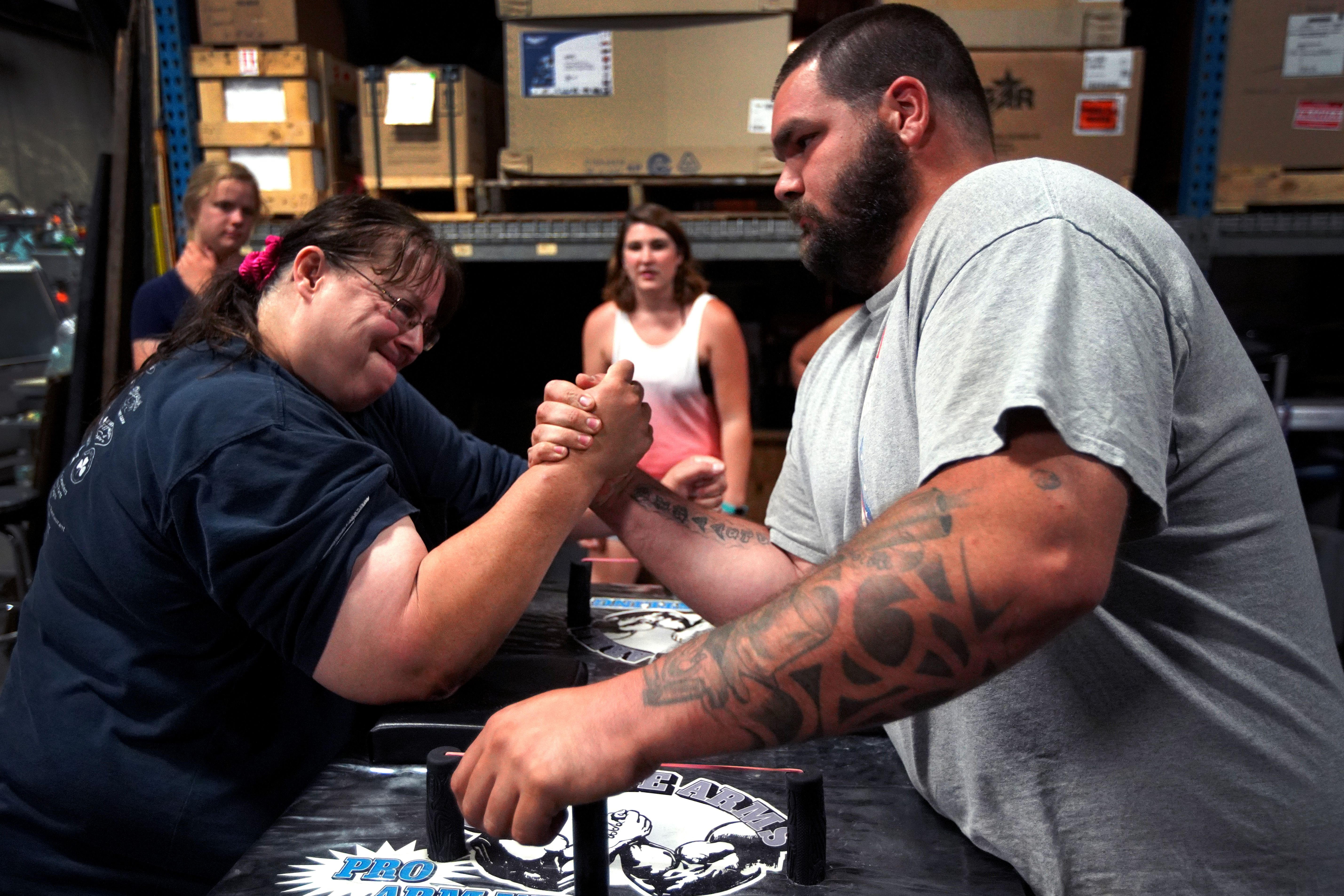 N H Woman Beats The Odds In Arm Wrestling The Boston Globe