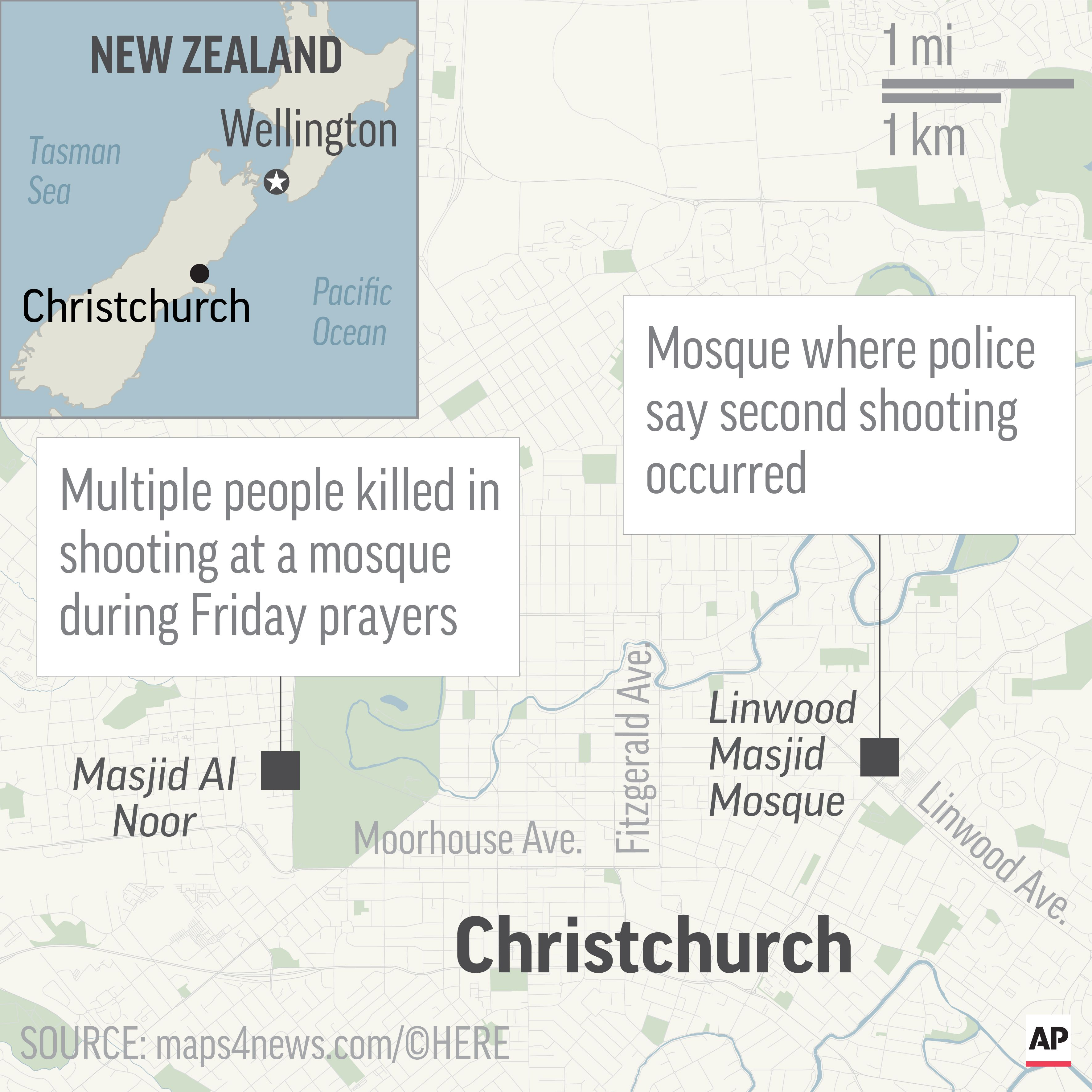 49 dead in mass shooting at 2 New Zealand mosques in ...