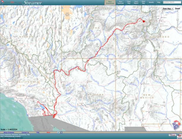 Streamer Neat Interactive Map Traces Us Rivers And Streams Spits - Map-us-rivers