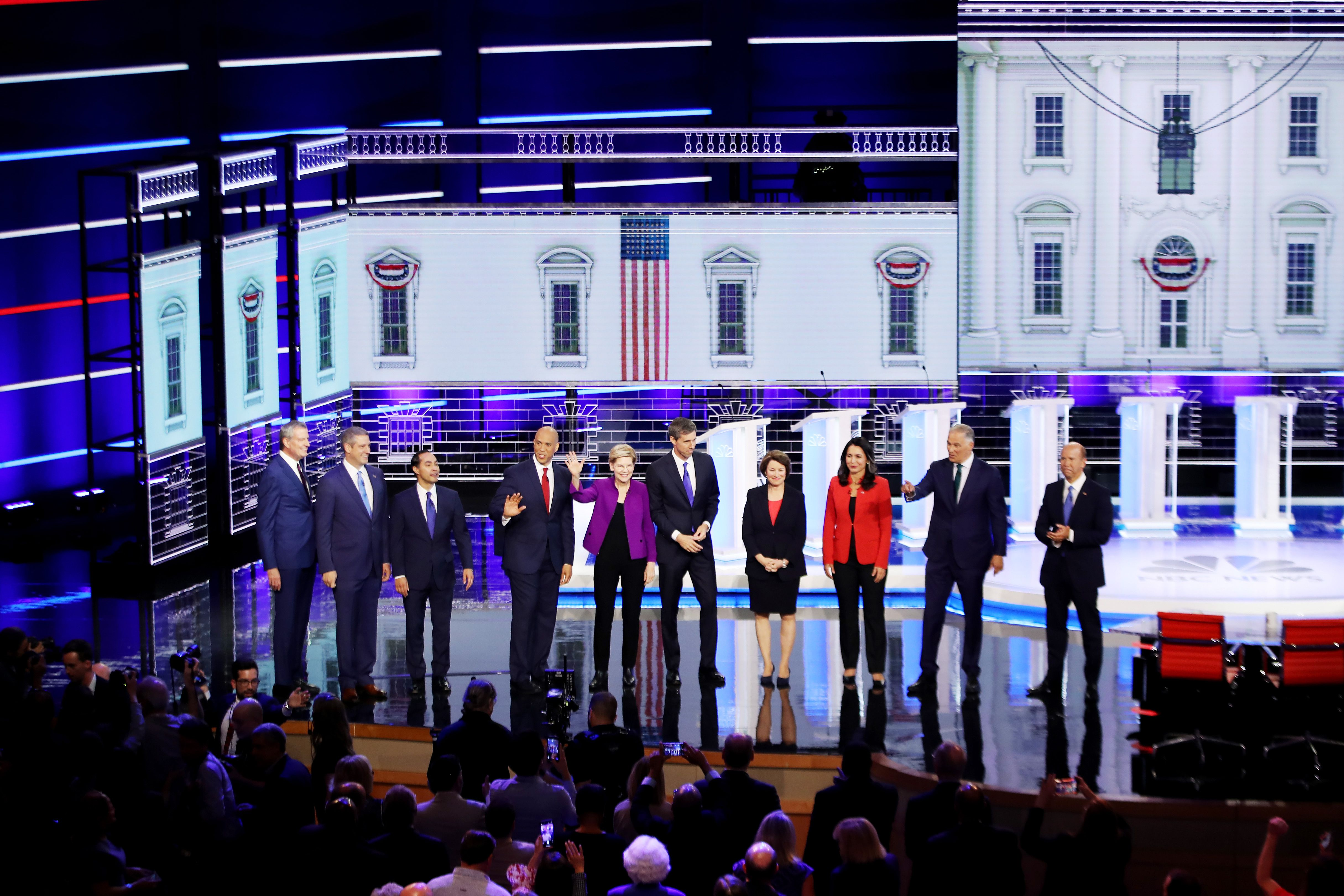 Tracking the speaking time of the Democratic presidential candidates