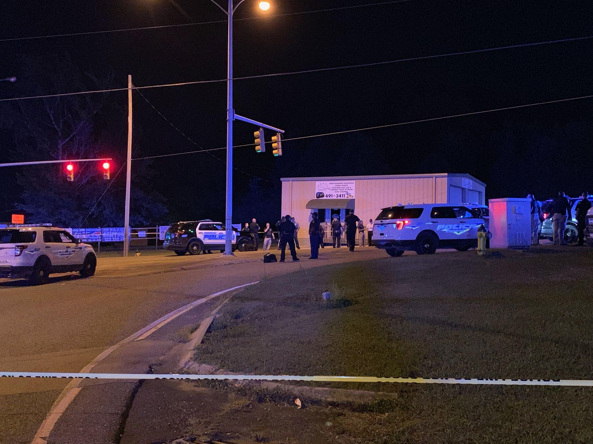 Man killed, female injured in running gun battle with