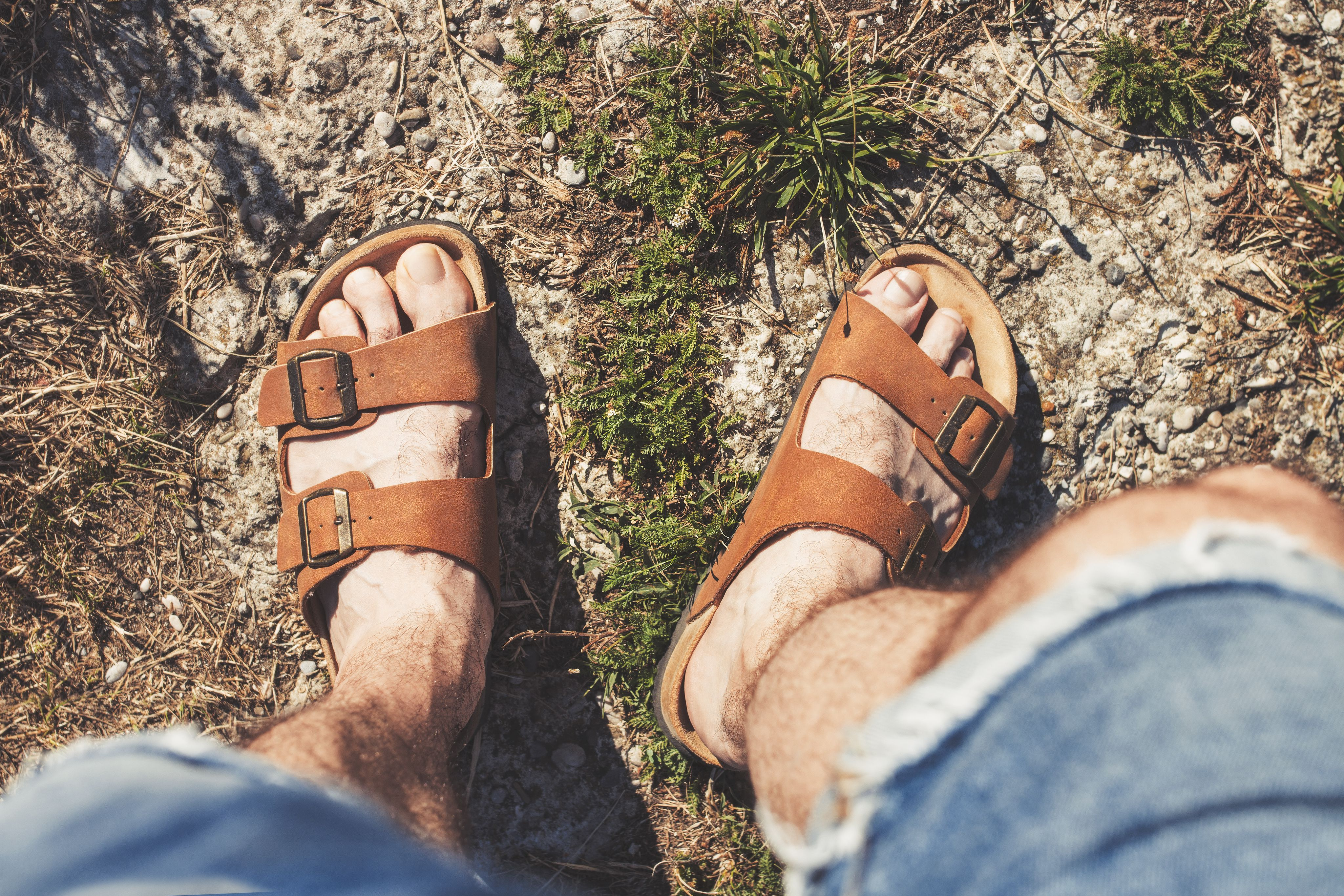 Warm weather is coming and men will wear sandals, and some
