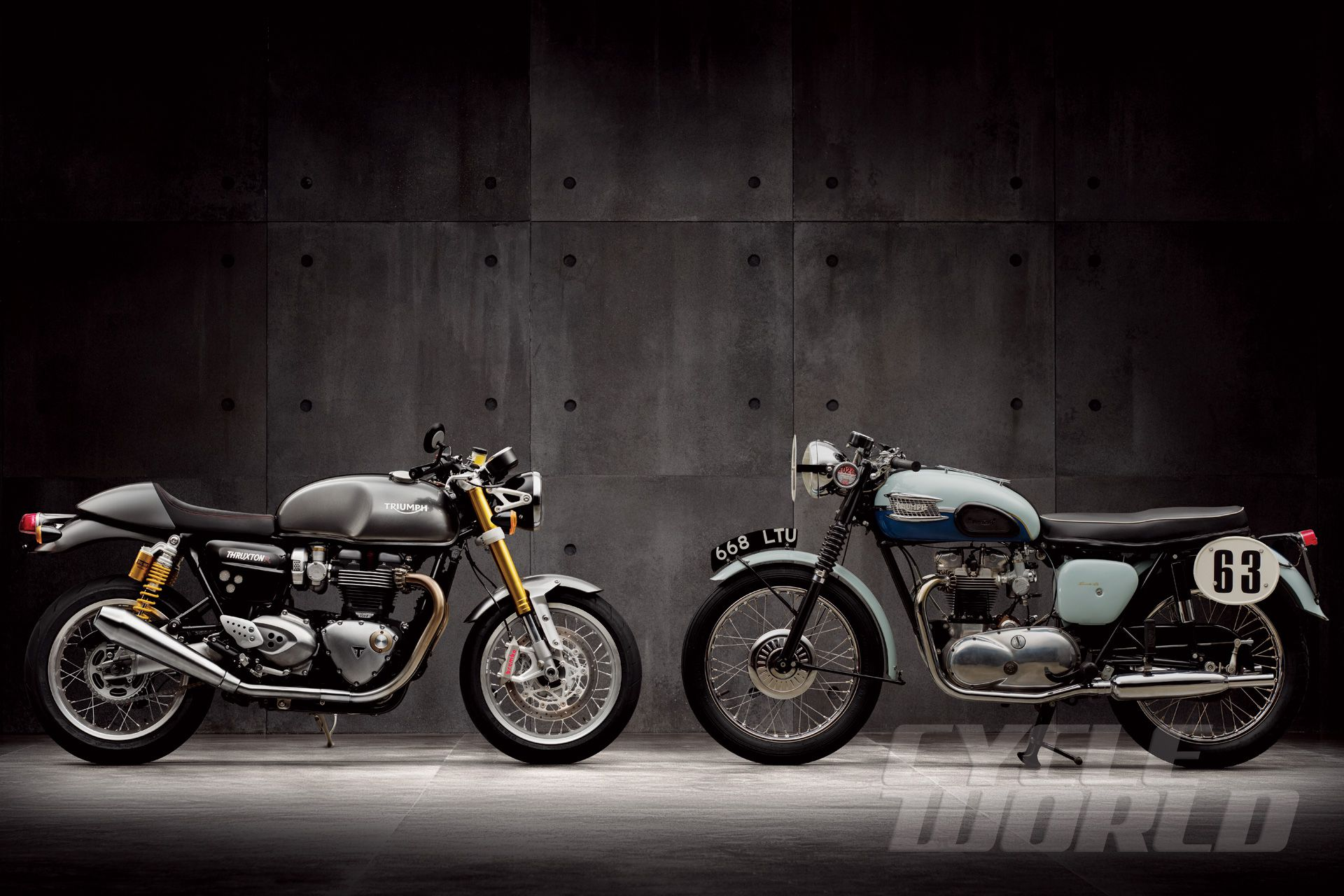 2016 Triumph Bonneville Thruxton and Thruxton R Motorcycle Review