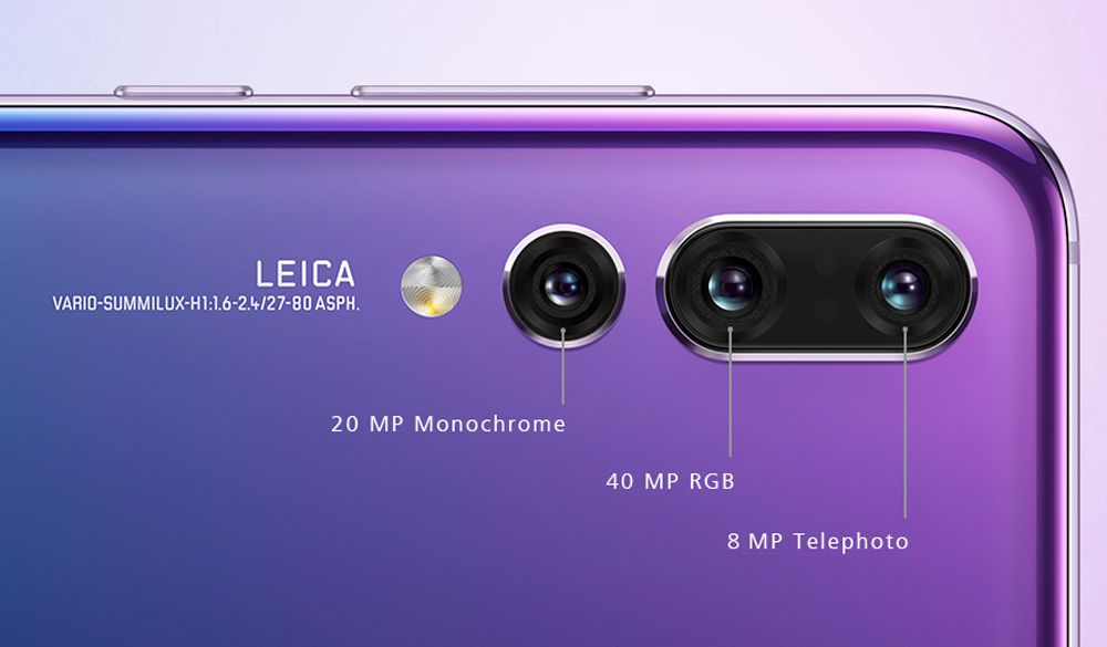Huawei's P20 Pro smartphone has three rear-facing cameras—here's