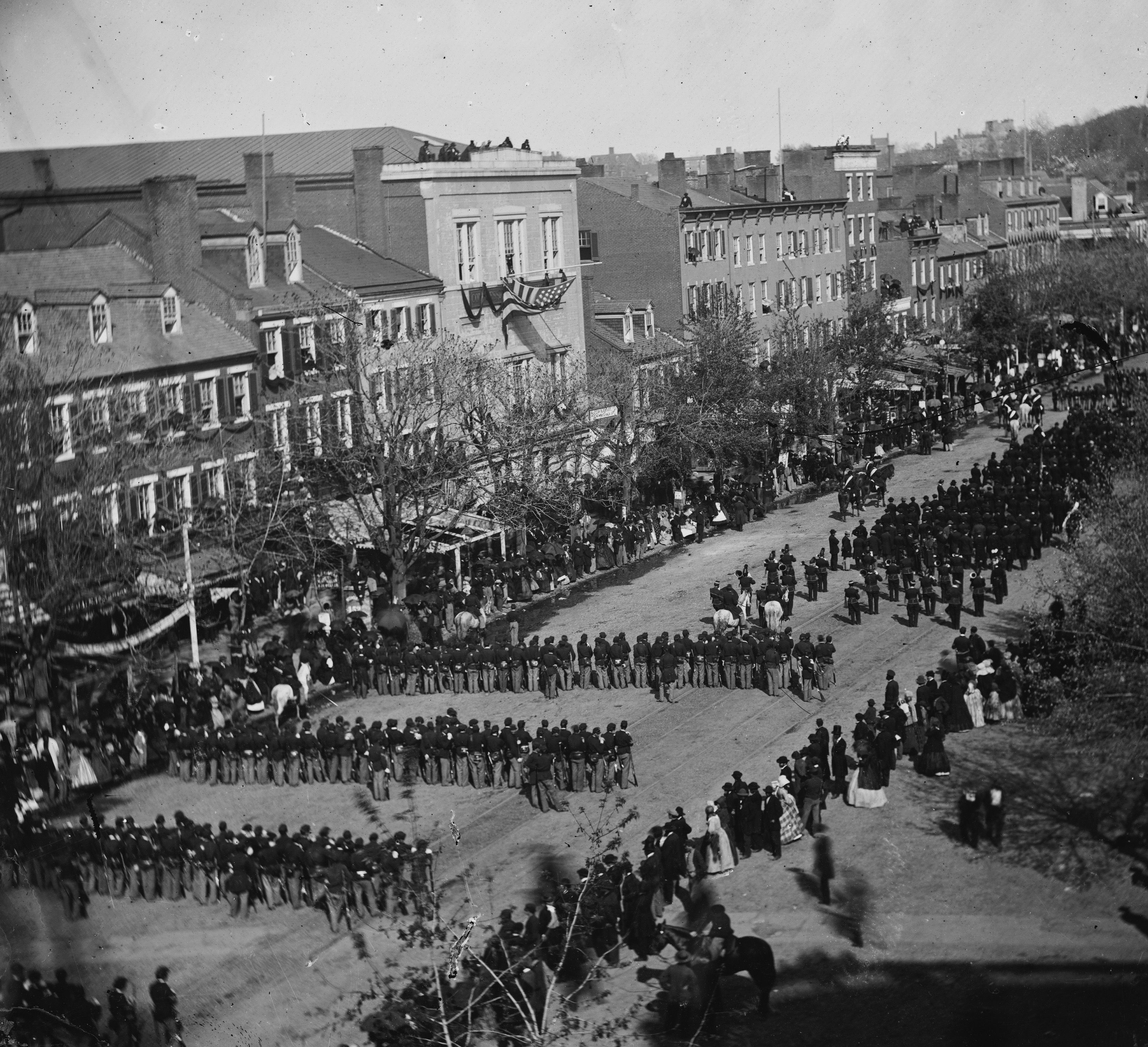 PRESIDENT LINCOLN FUNERAL REMOVAL OF THE BODY 1865 FUNERAL CAR COFFIN CASKET
