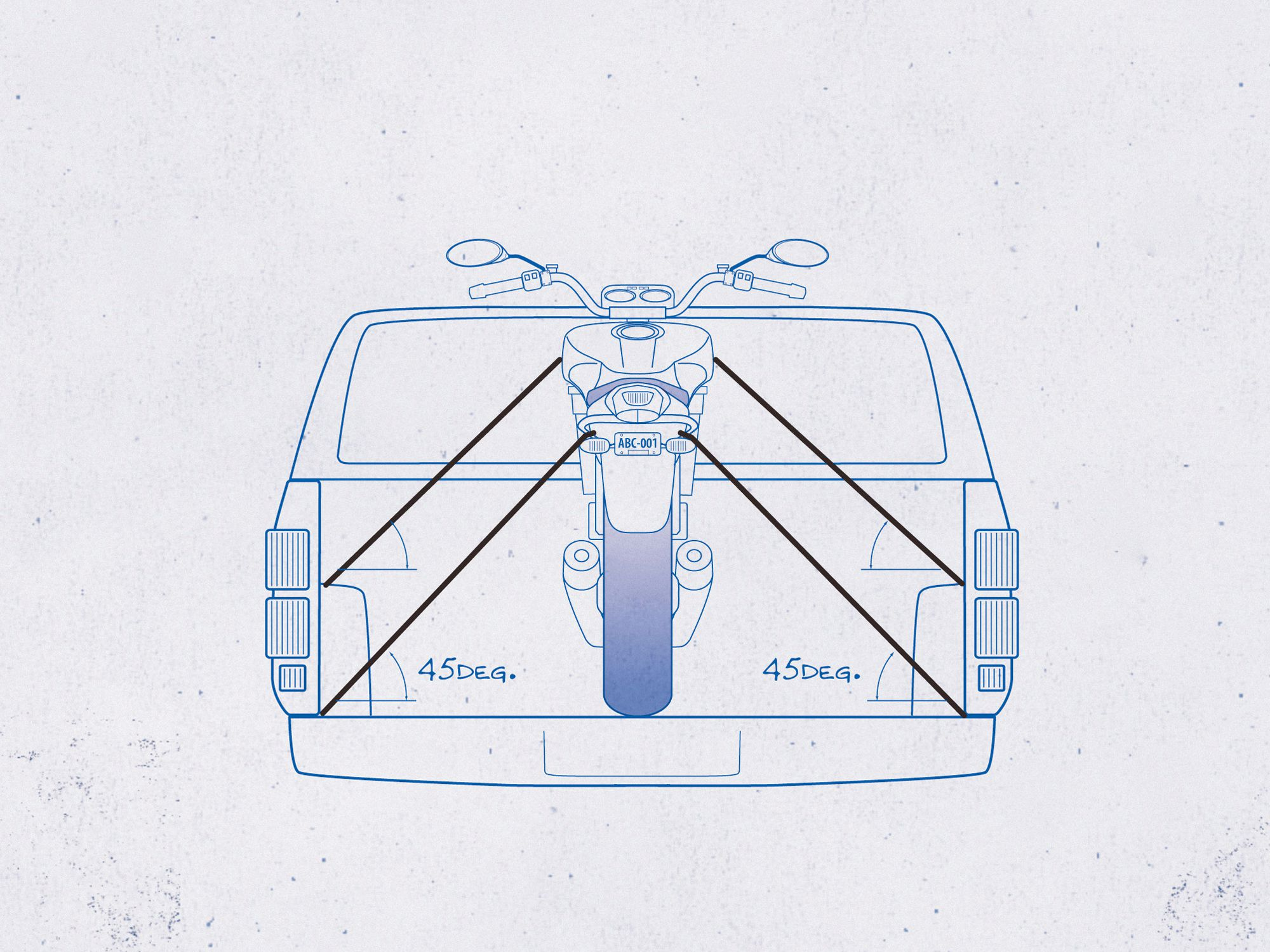 the right way to tie down and transport your motorcycle | motorcycle cruiser