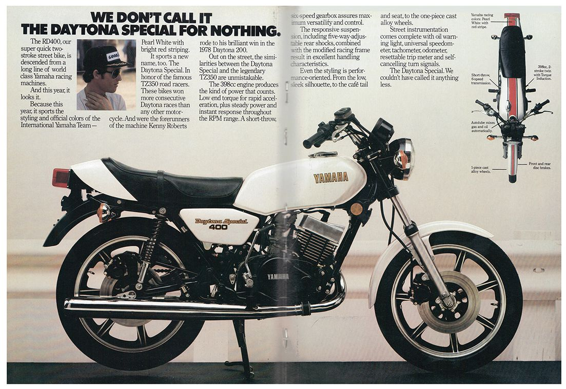 Two Stroke Motorcycles Yamahas Rd400 Daytona Special From 1979