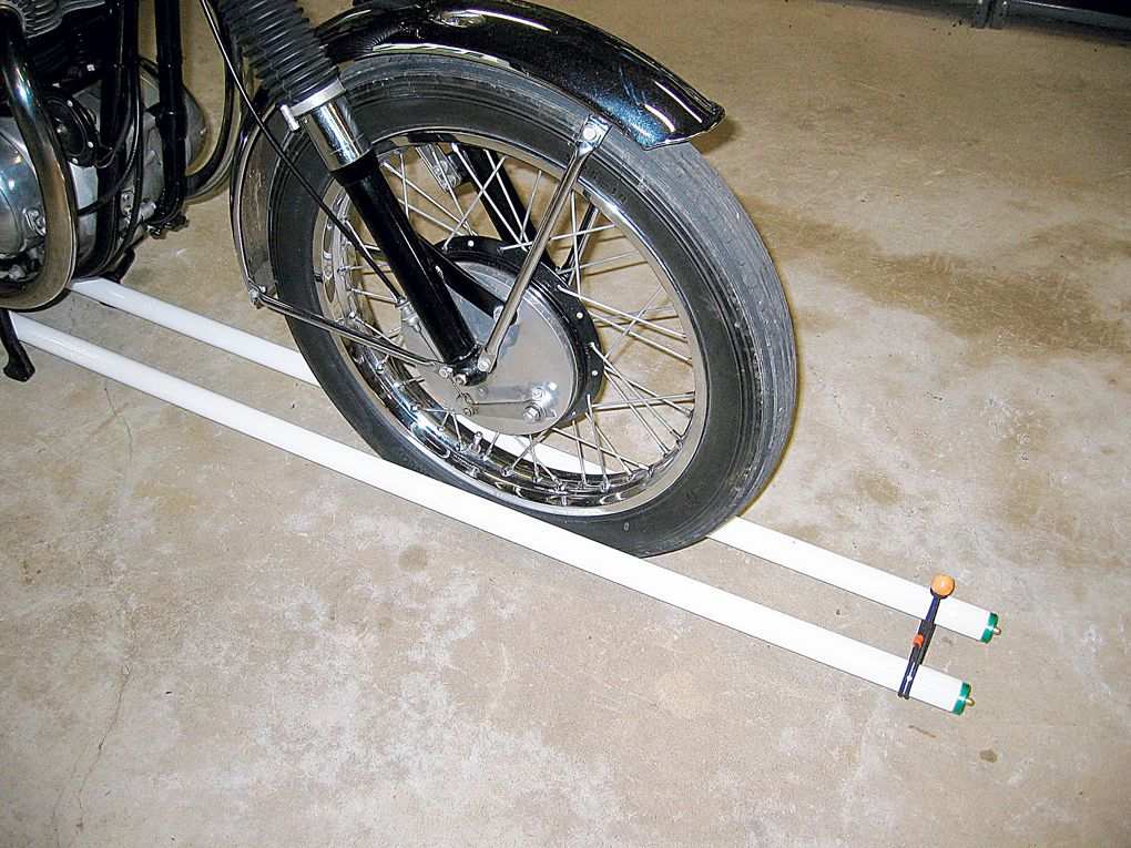 Checking A Motorcycle's Wheel Alignment | Motorcycle Cruiser