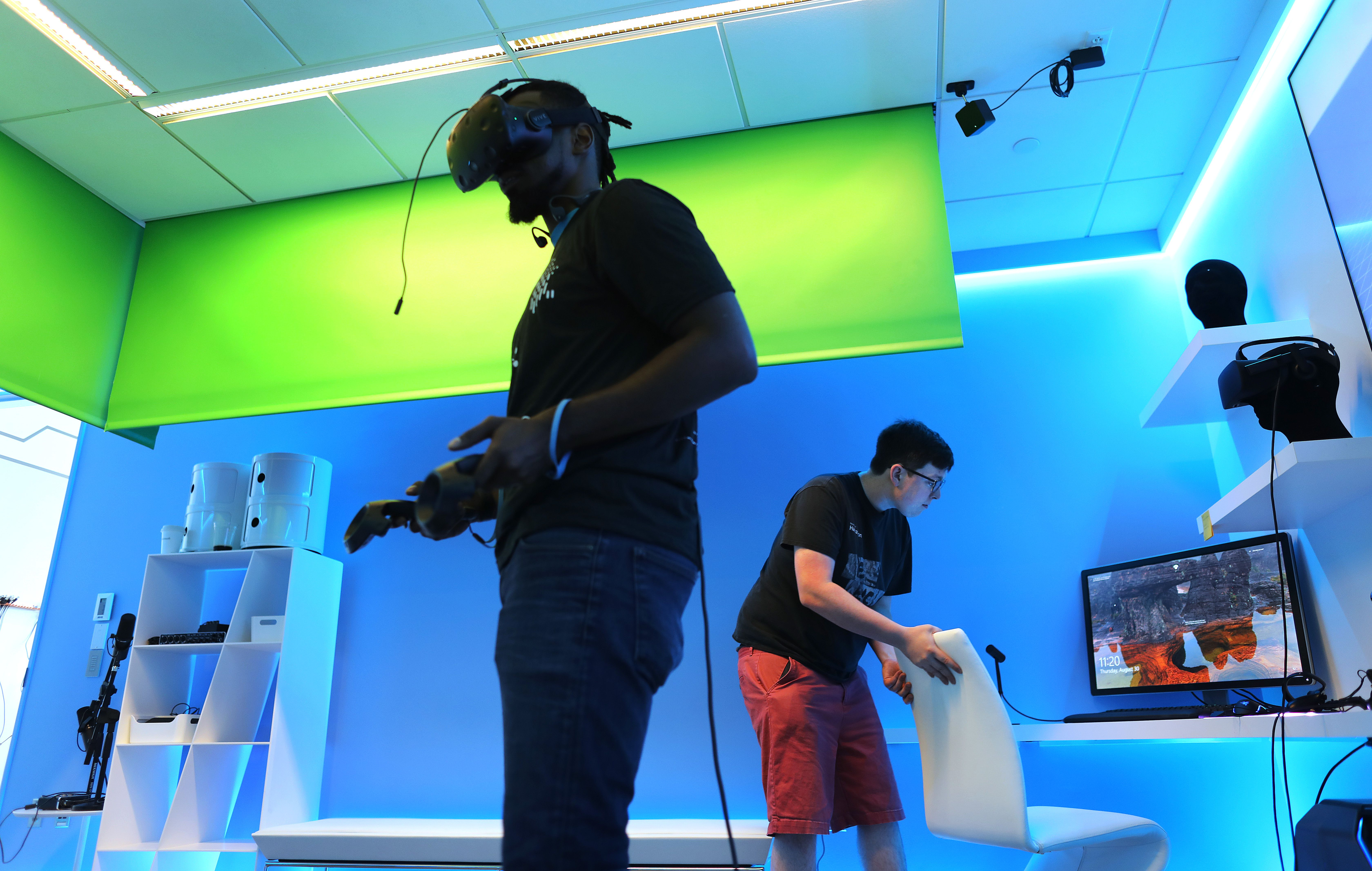 The garage is the place to be at microsoft the boston globe