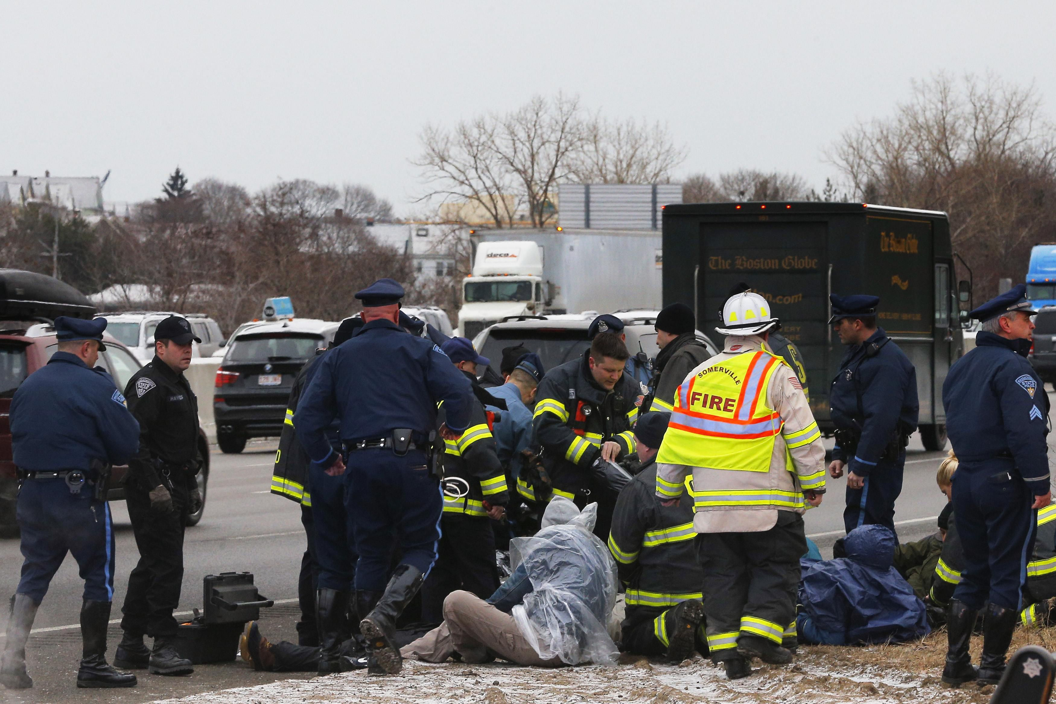Two protesters charged with blocking I-93 plead guilty - The Boston