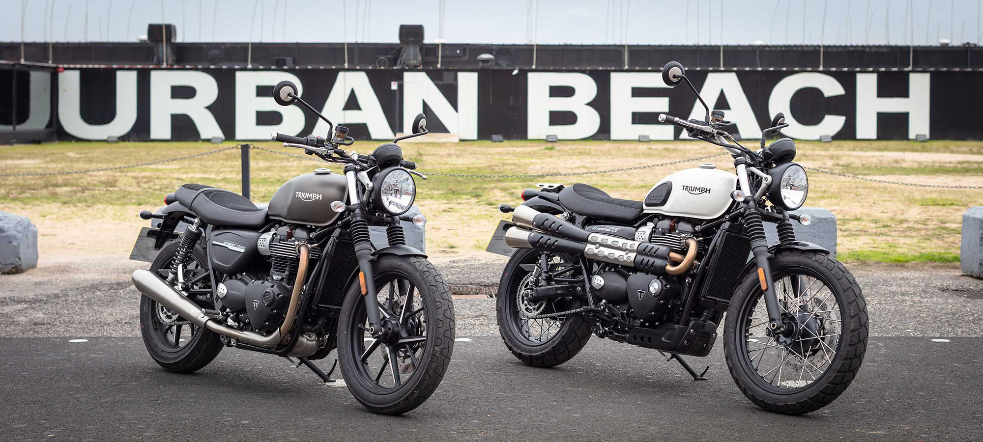 2019 Triumph Street Twin And Street Scrambler Review Cycle World