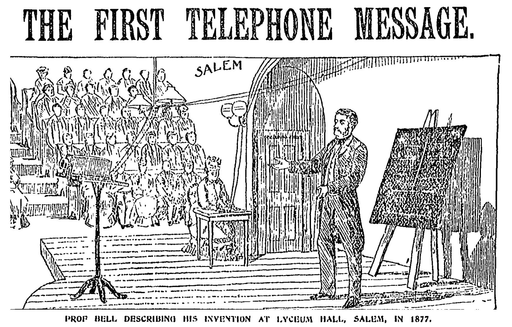 142 years ago, Alexander Graham Bell made the 'first