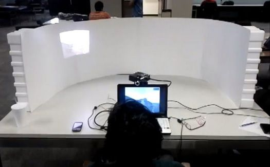 Video: A Built-In Eye Tracker Makes A Projection Screen You Can't