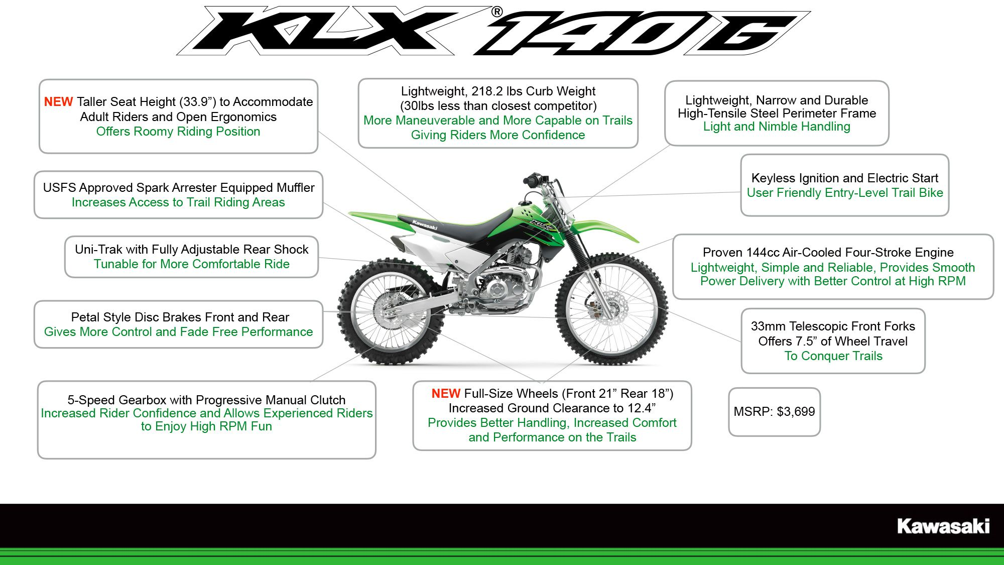Terrific 2017 Kawasaki Klx140G And Klx Family Dirt Rider Ocoug Best Dining Table And Chair Ideas Images Ocougorg