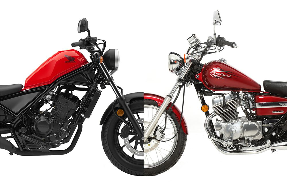 New Honda Rebel Vs Old