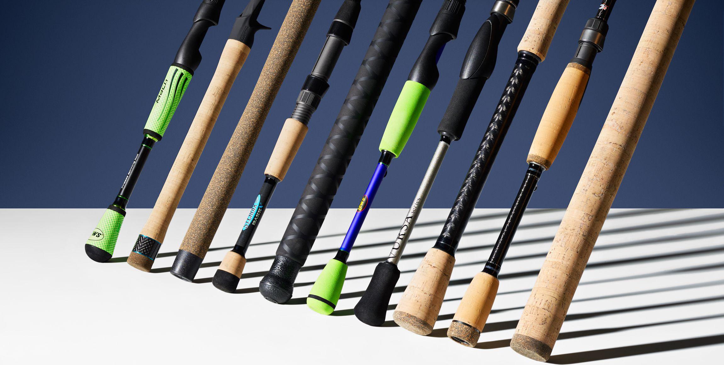 Croix Bass X Graphite Casting Fishing Rod with Split-Grip Cork Handle St