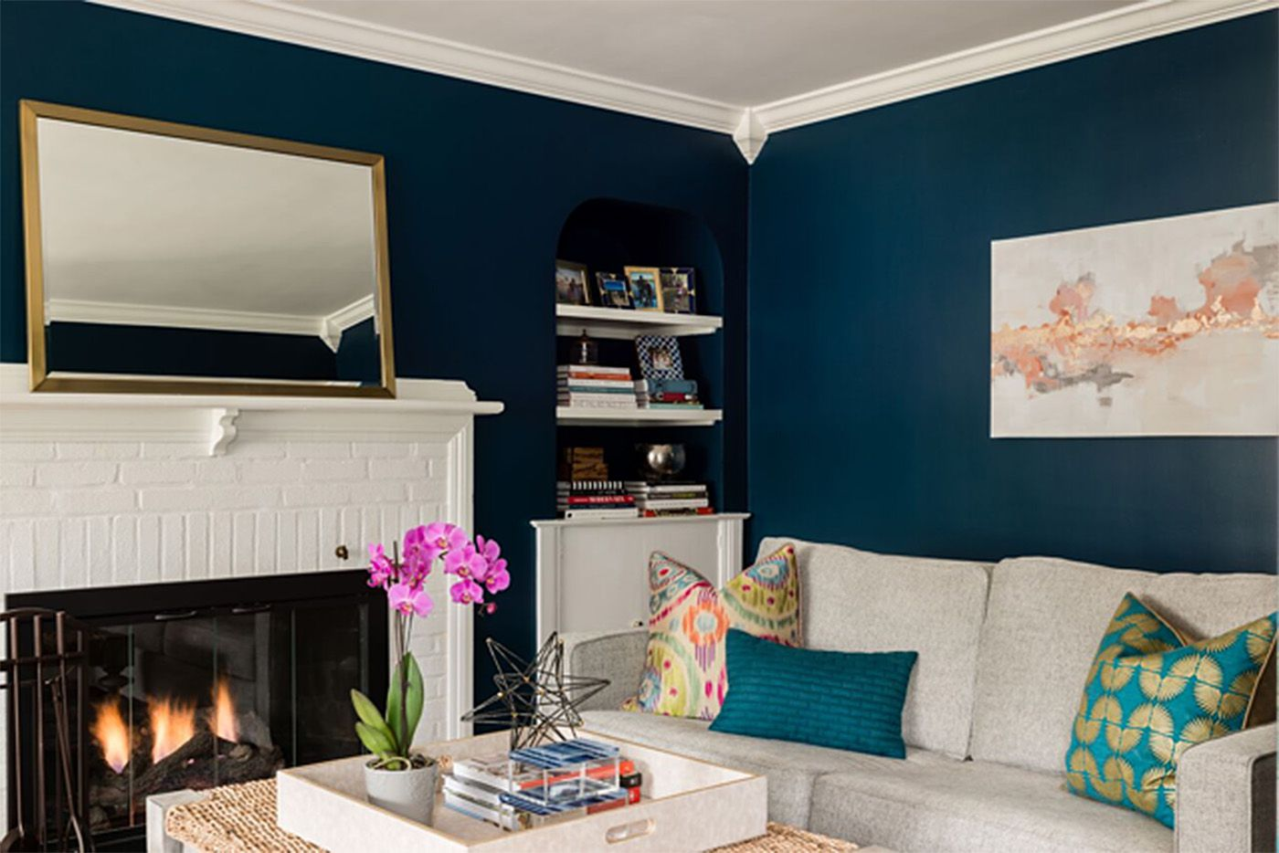 How To Pull Off Navy Blue Walls The Boston Globe