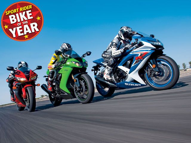 2008 Bike of the Year: Honda CBR600RR vs  Kawasaki ZX-10R vs  Suzuki