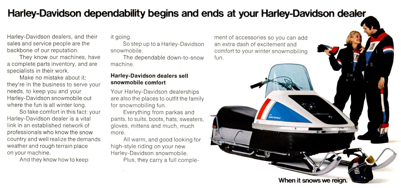 Bet You Didn't Know Harley-Davidson Once Sold Snowmobiles ... Harley Davidson Snowmobile Wiring Diagram on