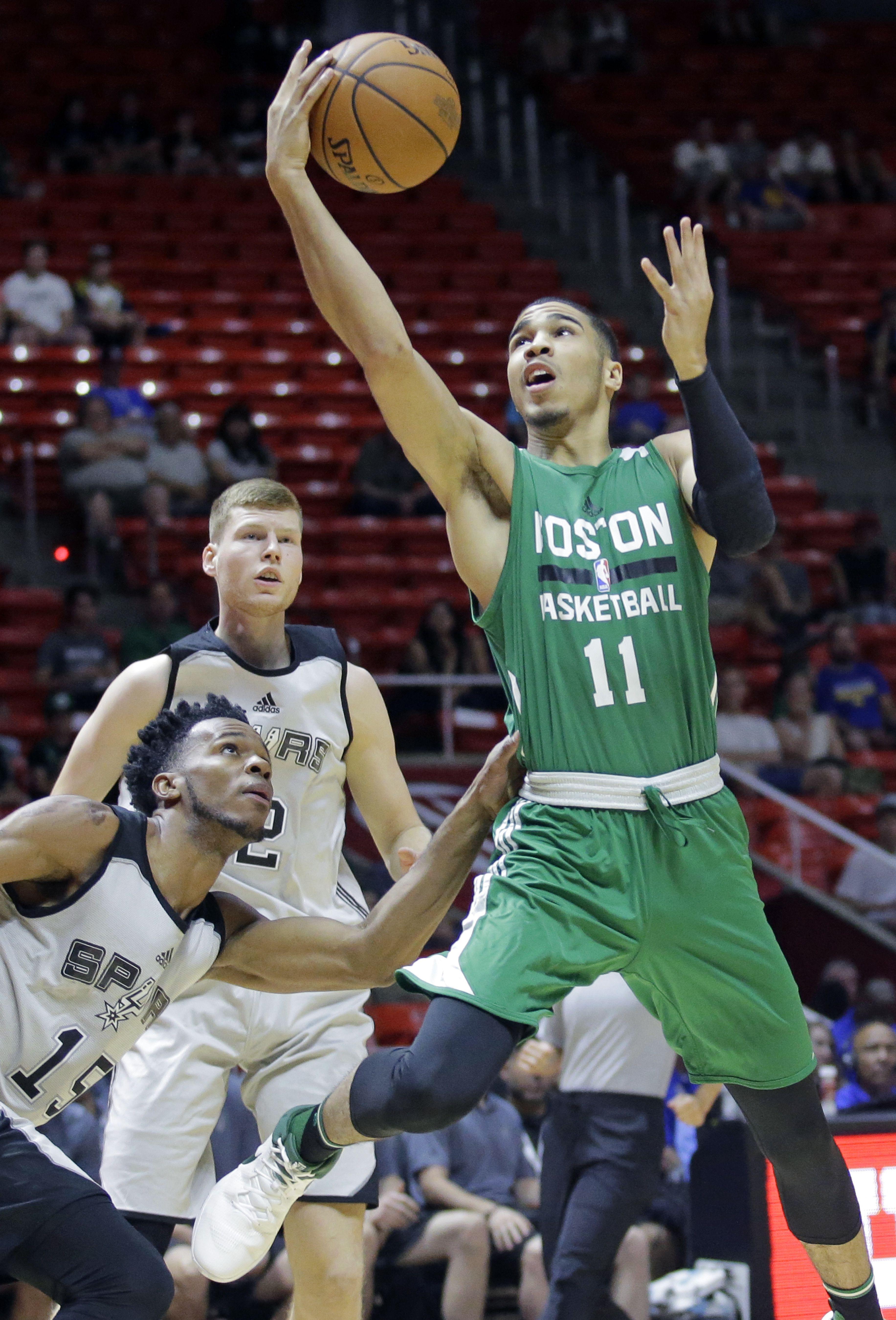 100% authentic 226a6 72fcc Jayson Tatum shines but Celtics lose Summer League game to ...