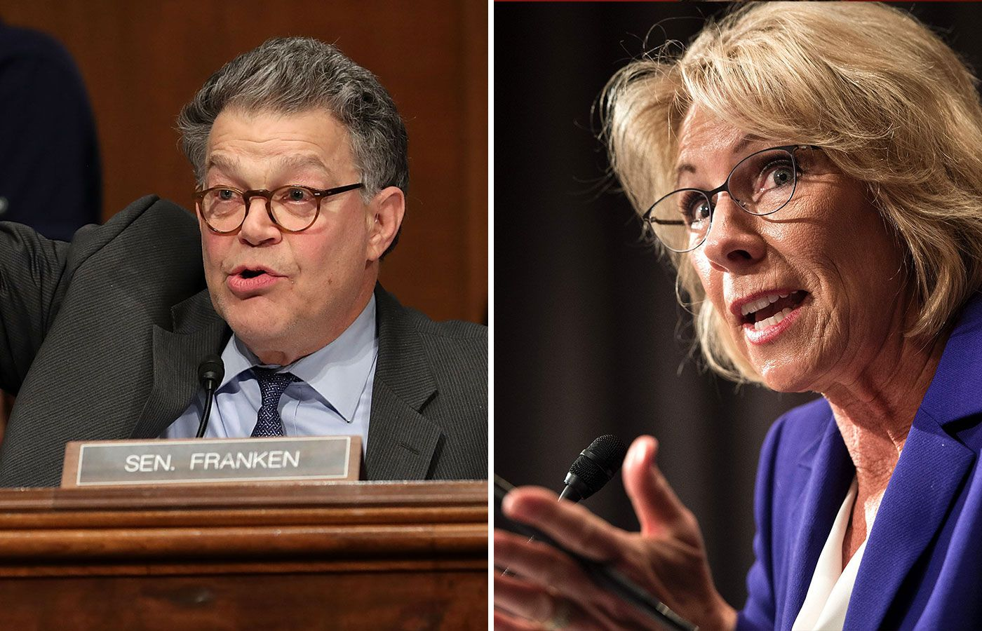 The Betsy Devos Hearing Was Insult To >> Al Franken Skewers Betsy Devos On Basic Education Policy