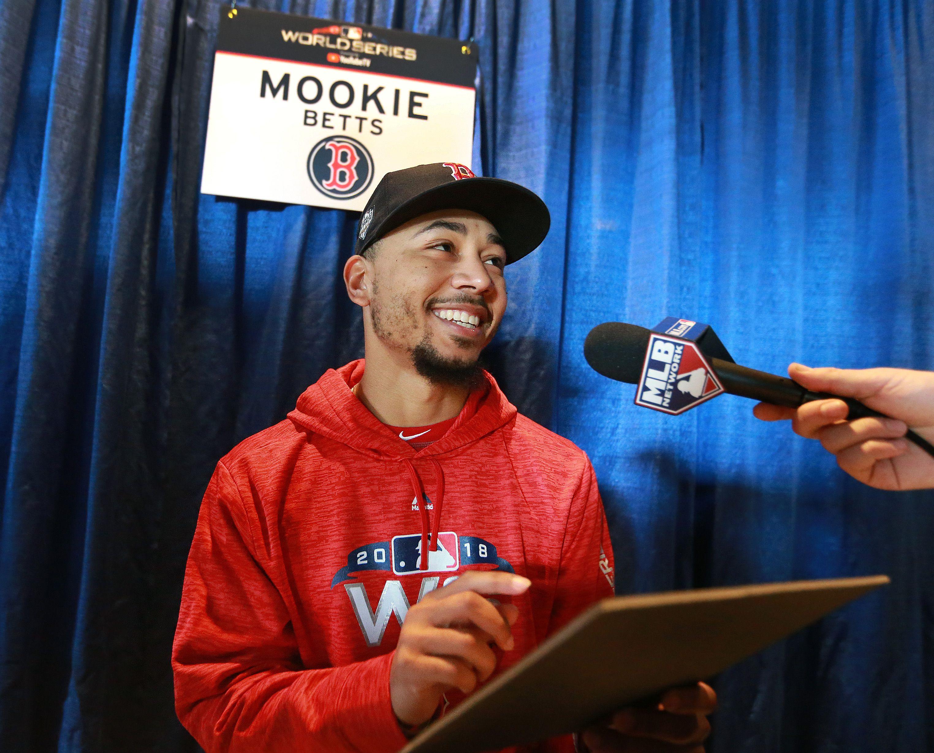 Mookie Betts looking ahead after receiving AL MVP hardware