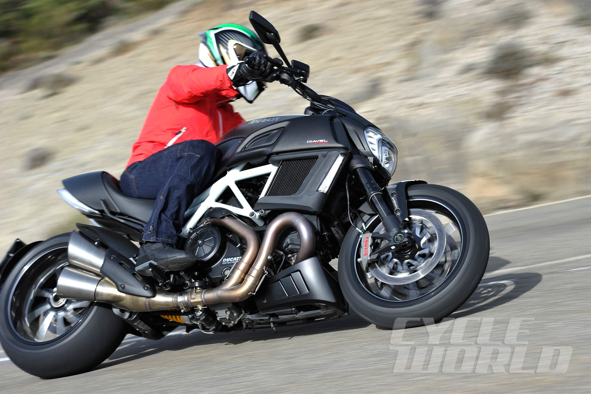 2015 Ducati Diavel Carbon- First Ride Cruiser Review- Photos- Specs