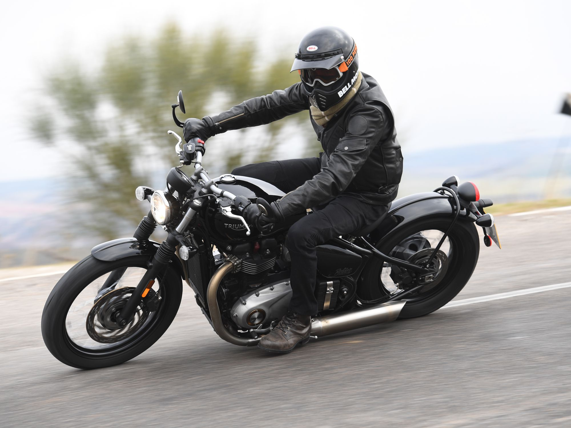 2017 Triumph Bonneville Bobber First Ride Review Motorcycle Cruiser