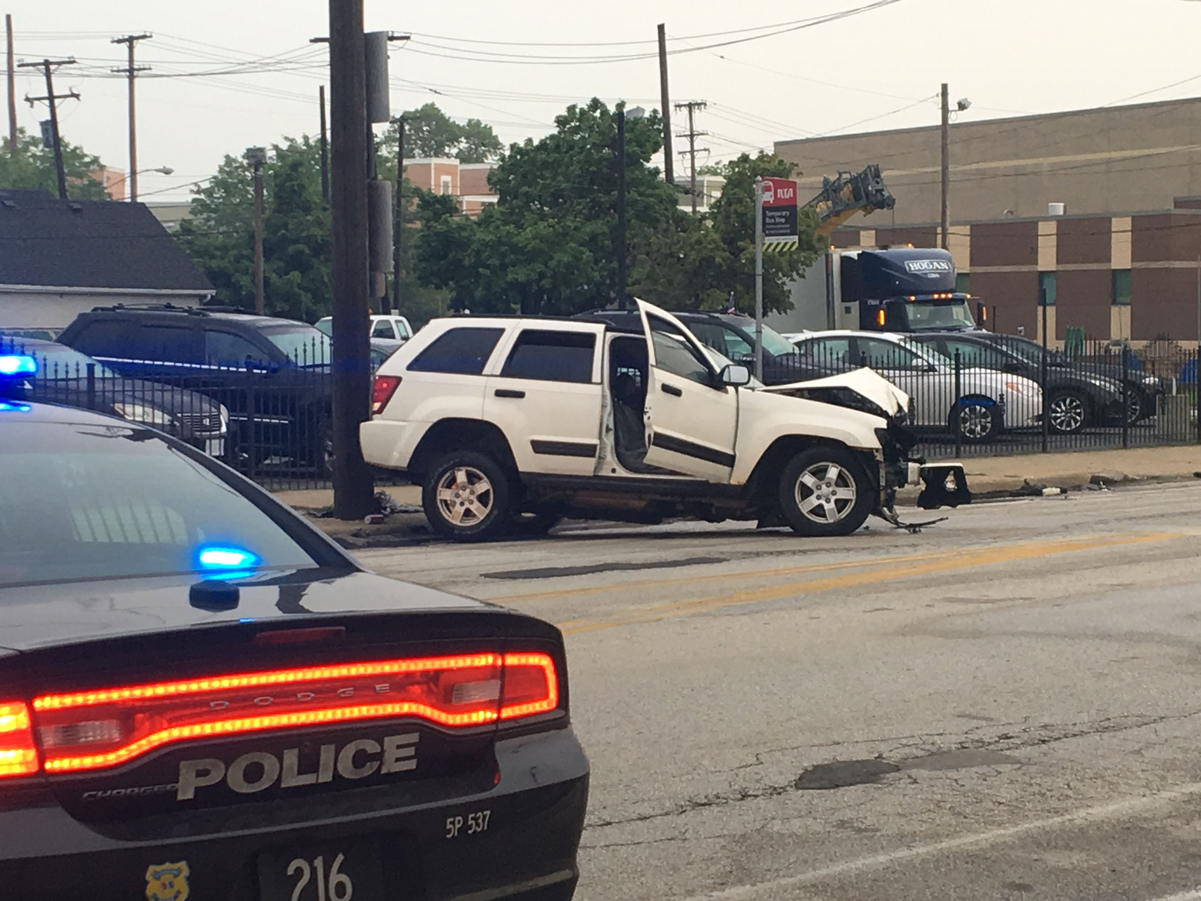 Man killed, another hurt in two-car crash in Cleveland's